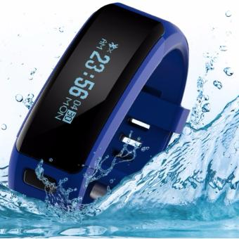 2Cool Smart Bracelet with WaterProof IP68 Swiming Water Resistant Bracelet Touch Screen Pedometer Bluetooth 4.0 Heart Rate Smart Bracelet for iPhone and Android(Black) - intl