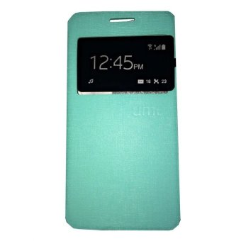 Ume Flip Shell / FlipCover for Samsung Galaxy A5 A500 / Samsung A5 Leather Case / Sarung HP / View - Hijau Tosca