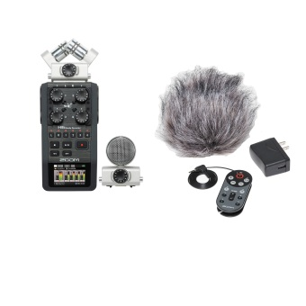 Zoom H6 Handy Recorder + Accesories Pack - Hitam