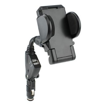 Car Holder Stand with USB Charger ZY-501 Black