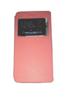 Ume Asus Zenfone 2 Laser ZE551KL Ukuran 5.5 Inch / Zenfone Laser View / Flip Cover / Book Cover / Flipshell / Case Cover / Leather Case / Sarung HP / Sarung Asus Zenfone Laser - Pink