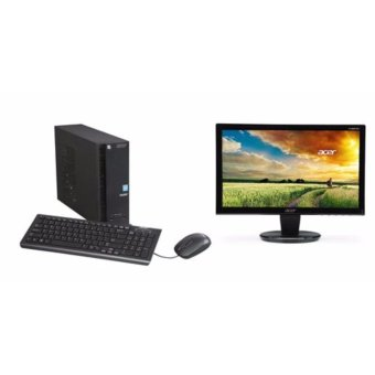 Jual ACER Aspire XC704G - RAM 4GB - Intel DualCore N3050 - Win10 - Bundling Monitor Acer LED P166HQL 15.6