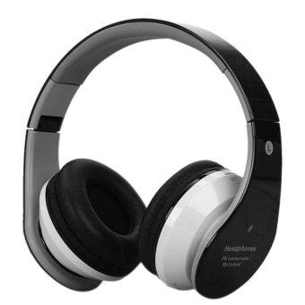 360DSC Foldable Wireless Bluetooth Headphone Headset Stereo Earphone with Mic - Black - intl