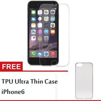 1Shop Tempered Glass iPhone 6 Plus + Gratis TPU Ultra Thin iPhone 6 Plus