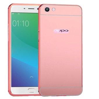 ... Free Iring Source Harga Terbaru Case Oppo F1s Alumunium Bumper With Mirror Backdoor Slide Rose gold