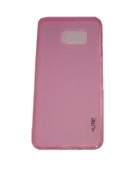 Ume Samsung Galaxy Note 5 Edge / Samsung Galaxy S6 Edge+ / Samsung Galaxy S6 Edge Plus / Samsung S6 Edge+ / Samsung Note 5 Edge Ultrathin / Silikon Samsung Note 5 Edge / Silicone / Ultra Thin - Pink Transparan