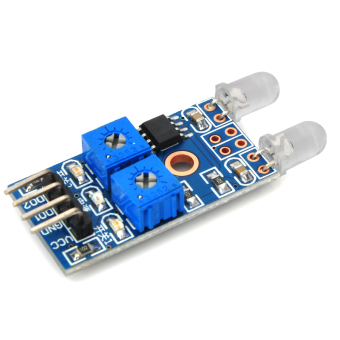 ZUNCLE Light Detection 4-Pin 2-Channel Photo Diode Sensor Module(Blue)