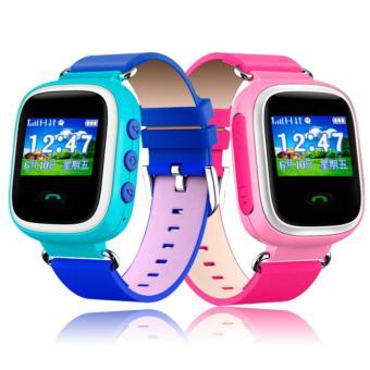 2Cool smartwatch untuk anak hadiah GPS pelacak posisi telepon anak SOS smartwatch dengan SOS (biru)- International