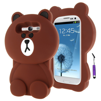 Harga Terbaru Moonmini 3D Lovely Bear Soft Silicone Back Case for Samsung Galaxy S3 i9300 (