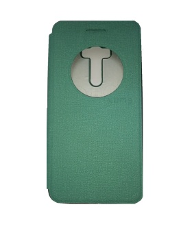 Ume Asus Zenfone Selfie ZD551KL View / Flip Cover / Book Cover / Flipshell / Case Cover / Leather Case / Sarung Handphone / Sarung HP / Sarung Asus Zenfone Selfie - Turquoise