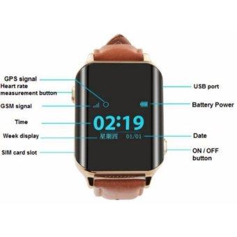 Universal Watch GPS Tracker Smart GPS LBS Tracker Locator SOS call Watch For Elder Kids Heart Rate Monitor - intl