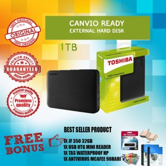 Toshiba HDD External Canvio Ready USB 3 0 1 TB Hitam Gratis Jetflash .