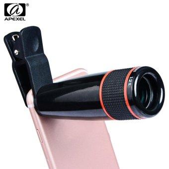 APEXEL APL - 12XSJ Universal External12X Telephoto Zoom Lens Shutterbug Necessary for iPhone Samsung Xiaomi ZTE Notebook PC - intl