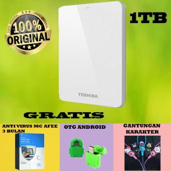 Jual Toshiba Canvio Basic 1TB - HDD / HD / Hardisk Eksternal - Putih - Gratis Otg Android + Gantungan Karakter + Antivirus McAfee Harga Termurah Rp 1100000.00. Beli Sekarang dan Dapatkan Diskonnya.