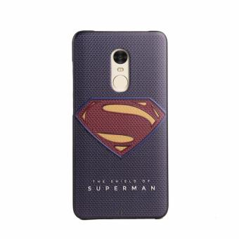 Harga For Xiaomi Redmi Note 4 TPU 3D Painting Cover Case Blue Superman