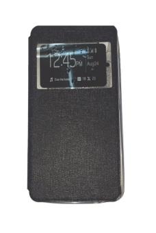 Ume Asus Zenfone 2 Laser ZE551KL Ukuran 5.5 Inch / Zenfone Laser View / Flip Cover / Book Cover / Flipshell / Case Cover / Leather Case / Sarung HP / Sarung Asus Zenfone Laser - Hitam