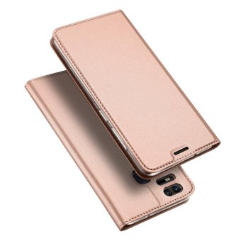 Leather Case Magnetic Flip Stand Cover for Asus ZenFone 3 Zoom ZE553KL - Rose Gold - intl