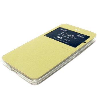 Ume Oppo F1S Selfie Expert Flipcase Flipshel Casing Leather Case - Gold