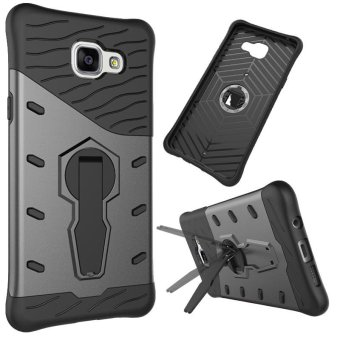 360 Rotating Armor 2 in 1 PC and TPU Soft Gasbag Stand Back Case Cover For