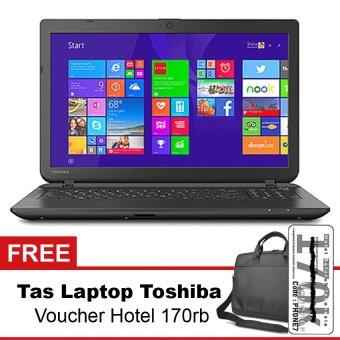 harga Toshiba Satelite C55 - 4GB RAM - Intel N2840 - 15.6 - Hitam + Gratis Tas Laptop + Voucher Hotel Lazada.co.id