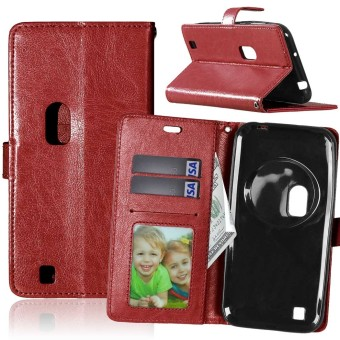 Leather Flip Stand Case Cover for Asus Zenfone Zoom ZX551ML (Brown) - intl