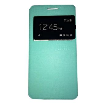 Ume Lenovo S660 Flip Shell / FlipCover / Leather Case / Sarung HP / View - Hijau Tosca