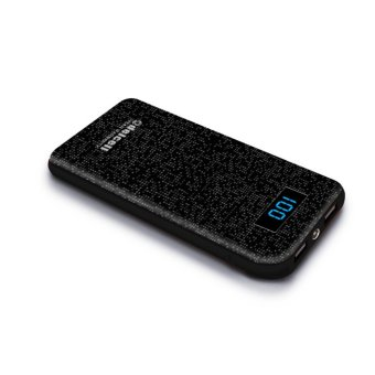 Harga Delcell NUMERO Powerbank 10500mAh Real Capacity Digital Display- All Black Murah