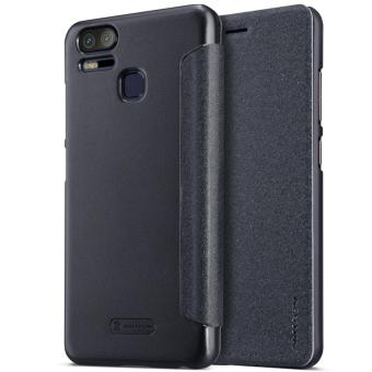 Nillkin Sparkle Series Book Type Ultra Thin Flip Up PU Leather Slim Cover Case for Asus Zenfone 3 Zoom ZE553KL - Black - intl