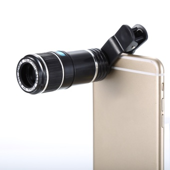 Universal Clip On 12X Telephoto Lens Mobile Phone Optical Zoom Telescope Camera For iPhone Sumgung HTC (White) (Intl)