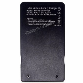 BLM-1 LCD Ultra Slim USB Charger for Olympus C-5060 Wide Zoom C-7070 Wide Zoom C-8080 Wide Zoom E-1 E-3 E-30 E-5 E-520 EVOLT E-300 EVOLT E-330 EVOLT E-500 EVOLT E-510 - intl