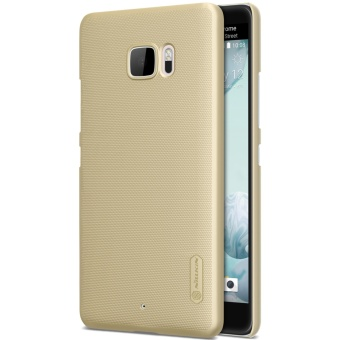 Nillkin Super Frosted Shield with Screen Protector Matte Ultra Thin PC Hard Back Case Cover for HTC U Ultra (Gold) - intl