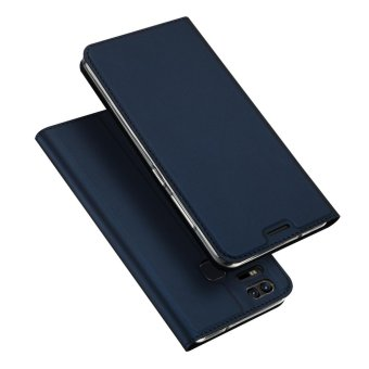 Leather Case Magnetic Flip Stand Cover for Asus ZenFone 3 Zoom ZE553KL - Blue - intl
