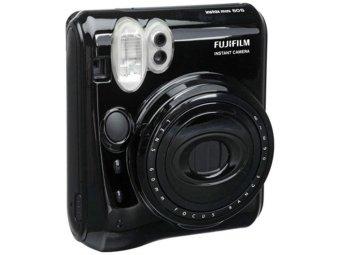 Fujifilm Instax Polaroid Camera Mini 50s Black - Hitam