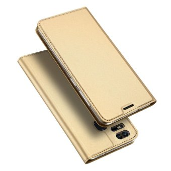 Moonmini Case for Asus ZenFone 3 Zoom ZE553KL Case Luxury Leather Case Book Design Magnetic Flip Stand Cover - Golden - intl