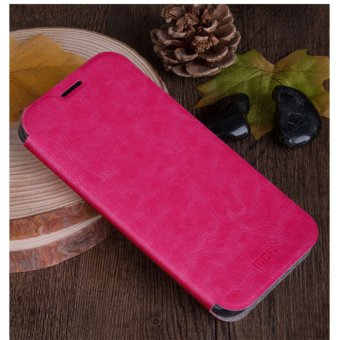 ASUS Zenfone 3 Zoom ZE553KL Case, Mofi Rui Series Ultra Thin Crash Proof Stand Slim Fit Flip Up Bracket PU Leather + Soft TPU Protective Shell Cover Case for ASUS Zenfone 3 Zoom ZE553KL - Rose Red - intl