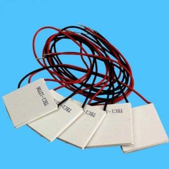 harga JOOX 6Pcs 12V 5.8A TEC1-12706 Heatsink Thermoelectric Cooler Peltier Cool Plate - intl Lazada.co.id