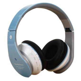 360DSC Foldable Wireless Bluetooth Headphone Headset Stereo Earphone with Mic - Blue - intl