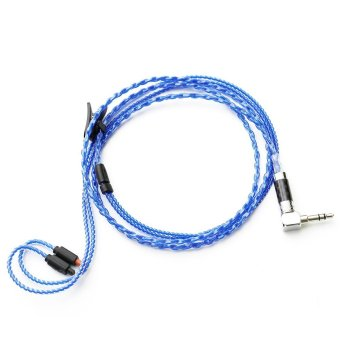 ZY HIFI Cable Audio-Technica IM01 02 03 04 50 70 Four-core Twisted Copper Plating Upgrade Cable ZY-049 (Blue) - intl
