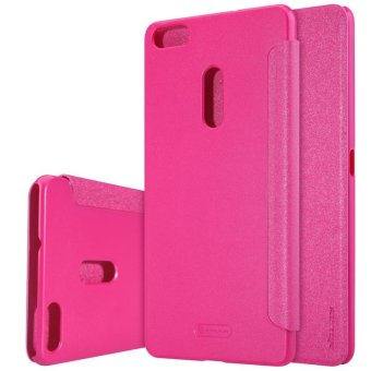 Nillkin Leather Case Sparkle Series Super Thin Flip Cover for ASUS ZenFone 3 Ultra / ZU680KL (Rose Red)