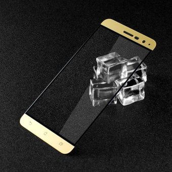 IMAK Complete Covering Mobile Tempered Glass Screen Film for Asus Zenfone 3 ZE520KL - Gold - intl
