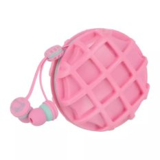 Incipient Cookie Design Cute Fasion 3.5mm Headset with Storage Box (Pink) (Intl)