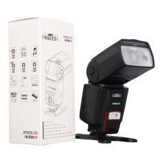 INSEESI IN560IV Universal Wireless Flash Speedlite GN50 dengan lampu LED untuk Nikon D3100 D5100 D7000 D7100. Canon 650D 60D 70D 5dmark III, Pentx kamera
