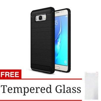IPaky Carbon Fiber Shockproof Hybrid Case For Samsung Galaxy J52016 J510