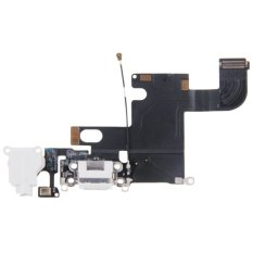 IPartsBuy Charging Port Dock Connector Flex Cable Replacement For IPhone 6 (Black)