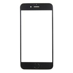 IPartsBuy Front Screen Outer Glass Lens with Front Housing LCD Frame and Home Button For IPhone 6S (Black)