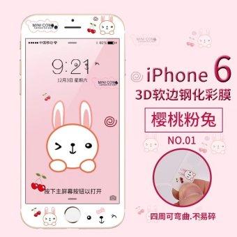 Iphone6 layar penuh penutup kartun pelindung layar ponsel pelindung layar pelindung layar pelindung layar