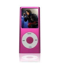 IPOD MP4 Mp3 PLAYER With Build In 4gb Memory With Earphone (Pink)
