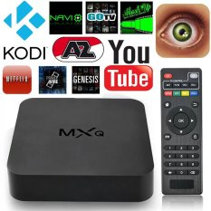 IPTV Smart Box Media Player Android4.4 Quad Core 1G+8G WIFI Kodi HD 1080P TV MXQ (Plug UK) - intl