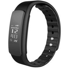 iwownfit I6HR TPU + TPE Bluetooth v4.0 IP67 Smart Wristband - Black - intl