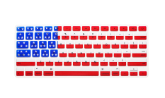 Apple Mac-book Air / Mac-book Pro JH Silicone Keyboard Cover Skin 11.6 Inch American Flag (Red / Blue) (Intl)